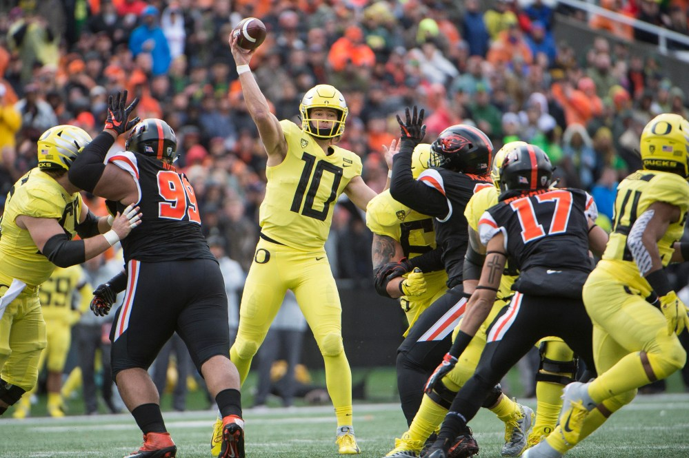 medium resolution of justin herbert to return to oregon ohio state s dwayne haskins likely top quarterback in nfl draft