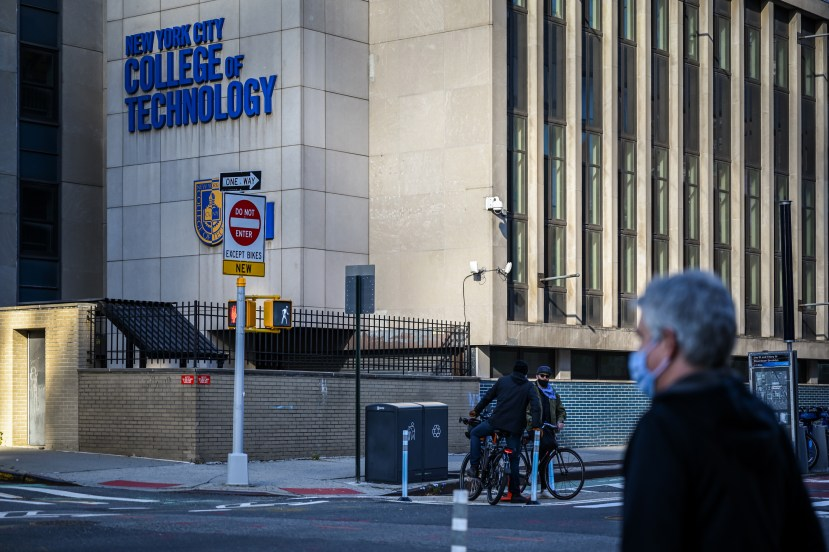 CUNY's College of Technology in downtown Brooklyn, Nov. 20, 2020.