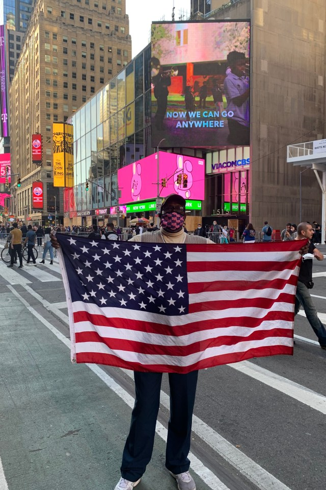 Times Square vendor Duane Jackson was forced to shut down his souvenir stand March 10, 2020.