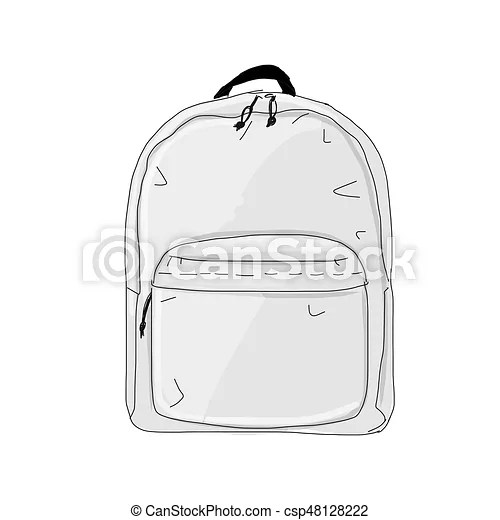 White backpack mock up isolated on soft gray background. Backpack Mockup Sketch For Your Design Vector Illustration Canstock