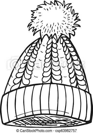 Pom Pom Drawing : drawing, Cable, Pompon, Vector, Drawn, Illustration, Pom-pom, Vintage, Engraved, Style., Isolated, White, Background, CanStock