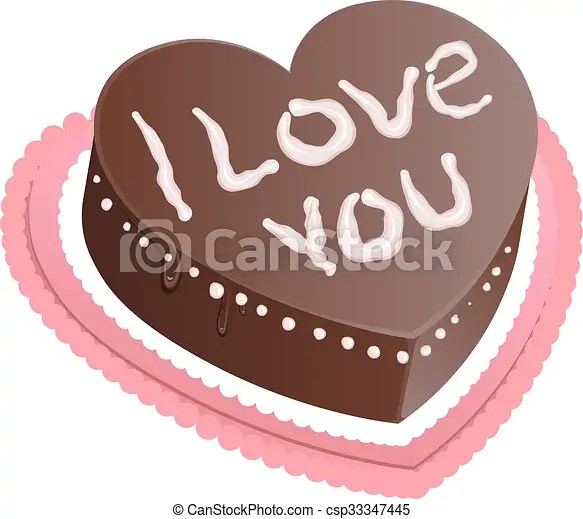 Using a measuring cup, divide the batter into 2. Chocolate Cake Shape Of Heart I Love You Chocolate Sponge Cake Isolated On White Vector Illustration Canstock