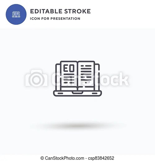 Download this ebook line flat vector icon vector illustration now. Ebook Icon Vector Filled Flat Sign Solid Pictogram Isolated On White Logo Illustration Ebook Icon For Presentation Canstock