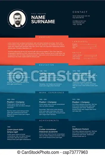 Make a great impression to the recruiter with a professional color block resume. Minimalist Teal Resume Cv Template Vector Dark Minimalist Cv Resume Template With Color Blocks Design Canstock