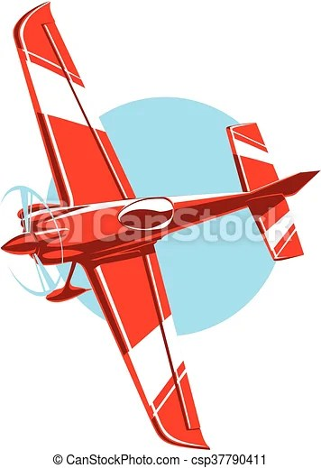 Small Airplane Drawing : small, airplane, drawing, Vector, Sport, Plane., Plane, Propeller., Small, Airplane., CanStock