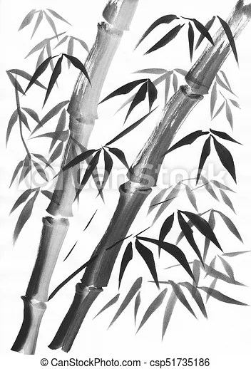 https www canstockphoto fr bambou peinture deux tiges 51735186 html