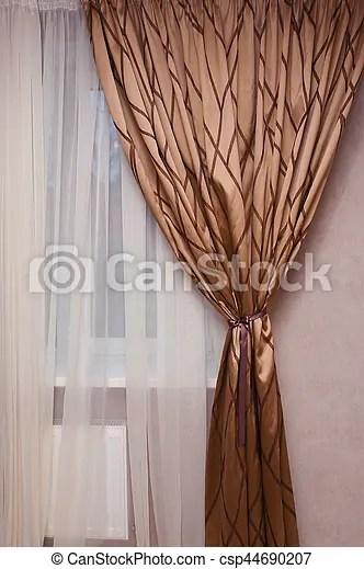 https www canstockphoto fr rideau brun fen c3 aatre tissu chambre c3 a0 44690207 html