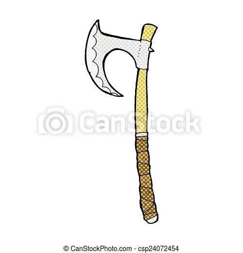 Amérindiens de la hache aux. Viking Comique Dessin Anime Hache Viking Style Livre Retro Hache Comique Dessin Anime Canstock