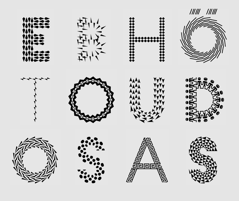 The Pattern Project. Ornamental Type Family With Patterns