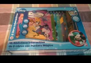 Libros Biblioteca Interactiva Disney con puntero mgico de