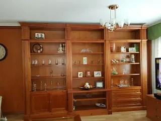 Mueble saln madera maciza en color Cerezo de segunda mano