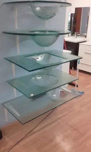 Lavabos encimeras de cristal transparente de segunda mano