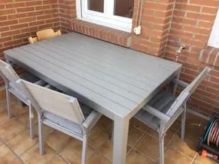 Conjunto mesa sillas y banco IKEA jardin de segunda mano