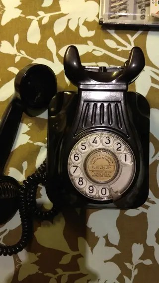 Telfono antiguo baquelita de coleccin en la provincia de