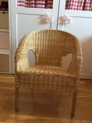 Sillas mimbre Ikea de segunda mano en WALLAPOP
