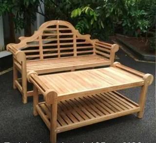 teak garden furniture hand