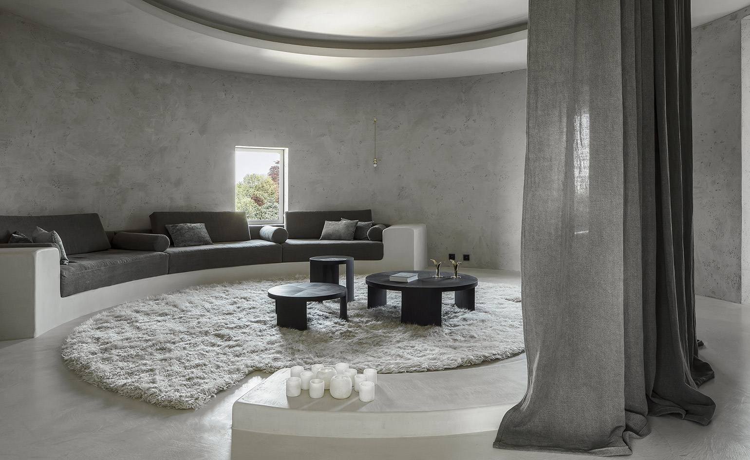 latest living room wallpaper designs rooms black leather couch arjaan de feyter an antwerp apartment in a silo ...