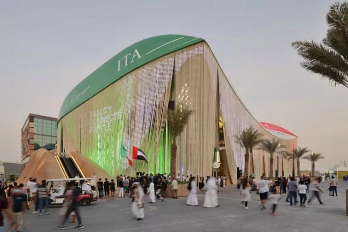 Italian pavilion at expo 2020 Dubai