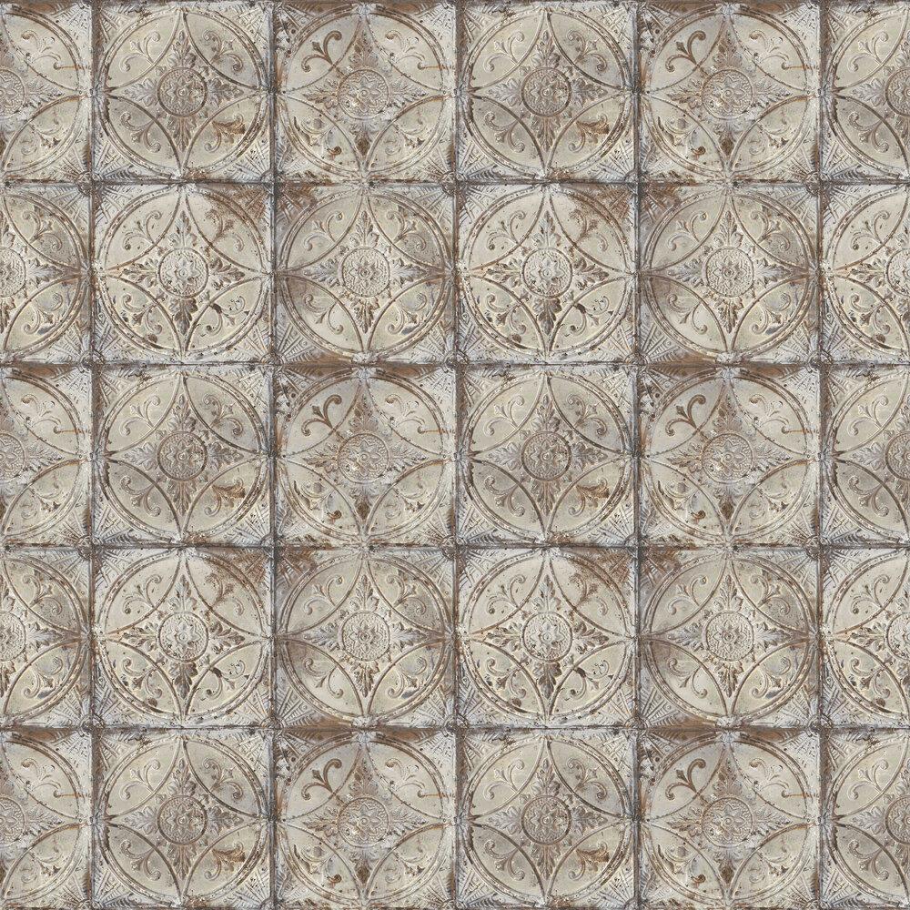 tin tile by galerie grey wallpaper g45373
