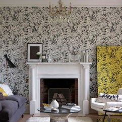 Wall Paper For Living Room Color Schemes Brown Sofa Design Ideas Get The Look Wallpaper Direct Little Greene Fern Charcoal Grey