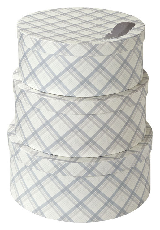 Fairburn Round Set Of 3 Storage Boxes By Arthouse