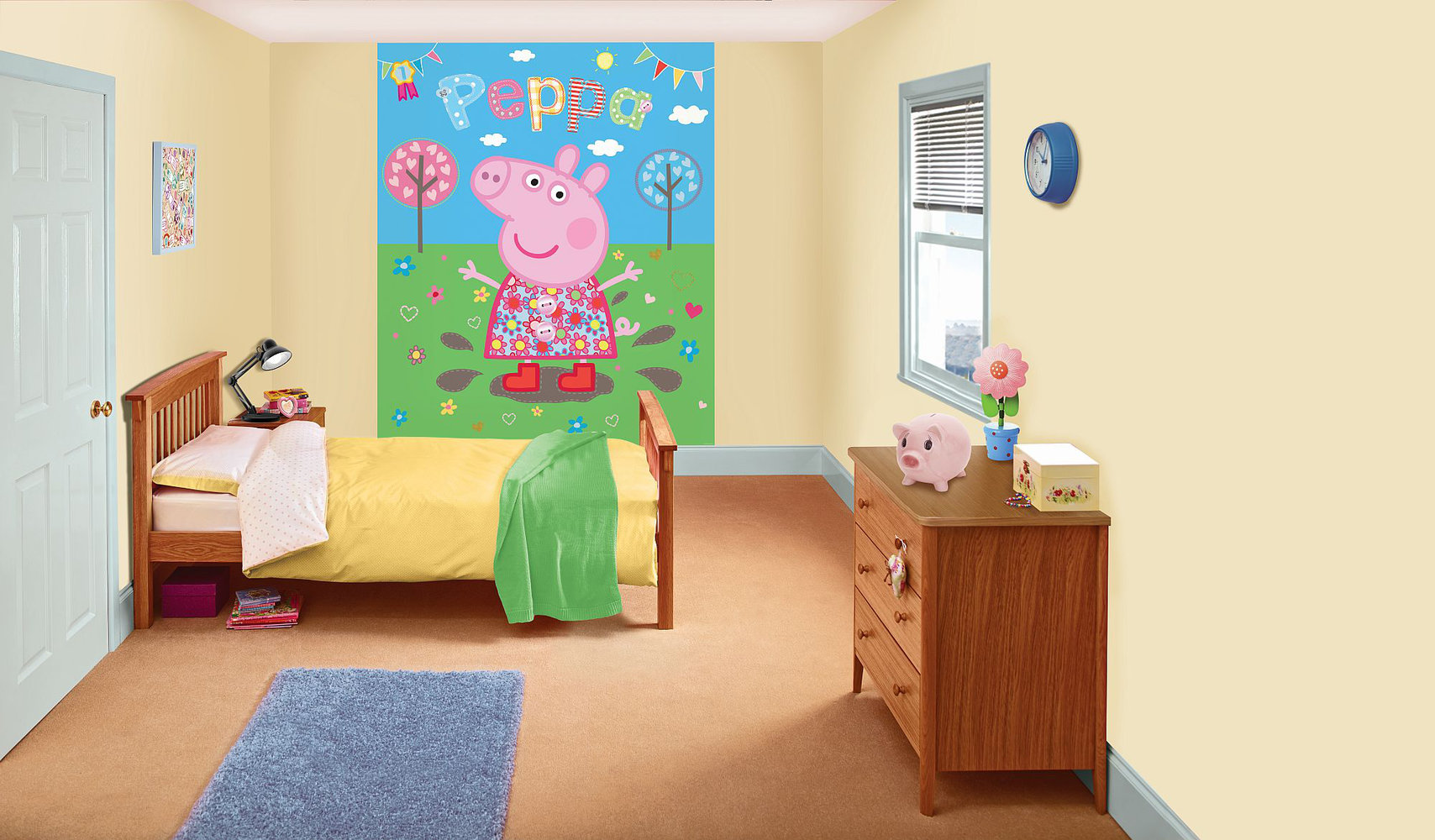 peppa pig bedroom in a box by walltastic : wallpaper direct