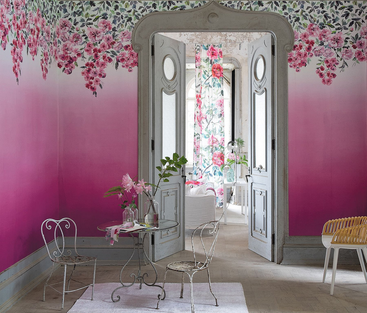 Trailing Rose Panel by Designers Guild  Peony  Wallpaper
