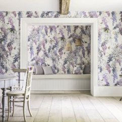 Apple Kitchen Rugs Cabinets For Cheap Wisteria Falls Panel A By Sanderson - Lilac : Wallpaper Direct