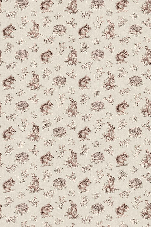 living room curtains designs fireplace squirrel & hedgehog by sanderson - walnut / linen ...