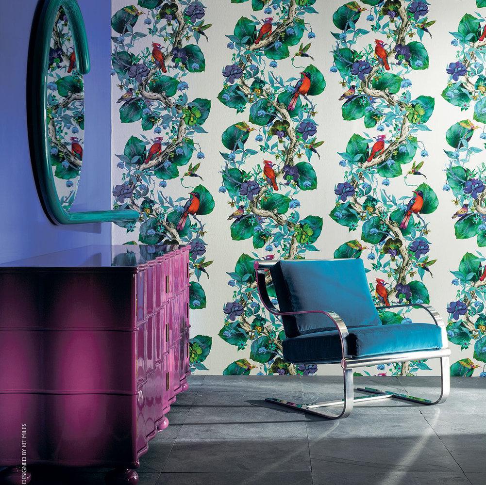 Rain Forest By Osborne Amp Little Emerald Ruby Wallpaper Direct