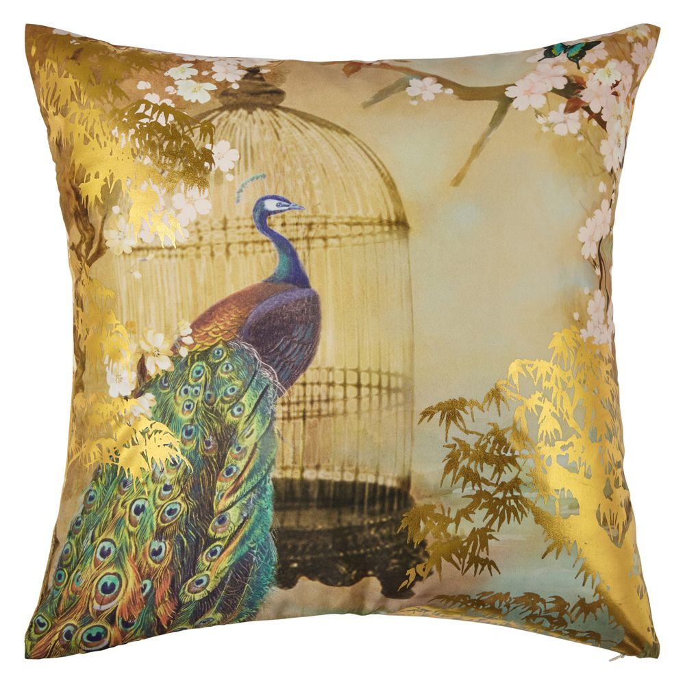 Suki Gold Foil Cushion by Arthouse  Gold  Wallpaper Direct