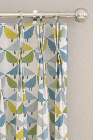 cute curtains for living room diy sofa small lintu by scion - gecko / pacific glacier ...