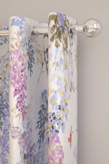 Sanderson Wisteria Falls Wallpaper Wisteria Falls Curtains By Sanderson Amethyst Fabric