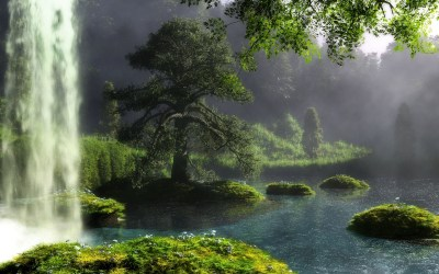 waterfall forest landscape hd abstract desktop wallpapers updated views category