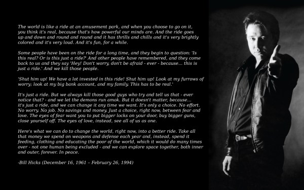quotes, atheism, Bill Hicks - desktop wallpaper