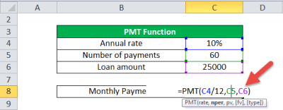 PMT Function in Excel (Formula, Examples) | How to Use PMT ...