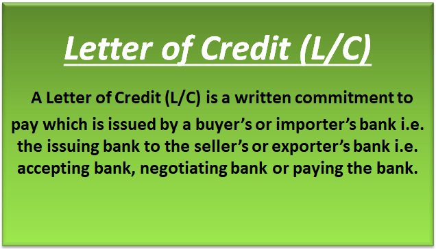Letter of Credit or LC Types Feature  How Does Letter