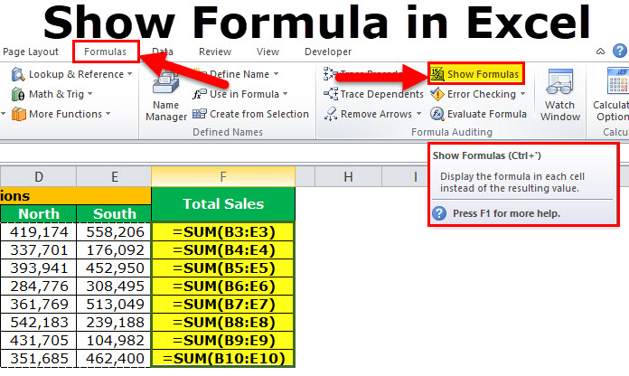 Show Formula In Excel Shortcut Example How To Show