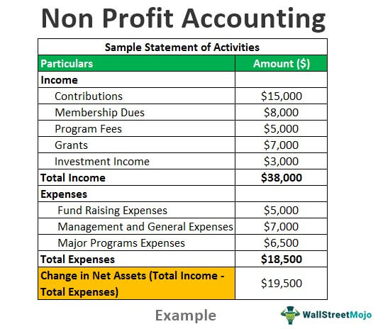 Cash is king when it comes to the financial management of a growing company. Non Profit Accounting Non Profit Organization Accounts Examples