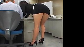 Japanese office_girl gets fucked_by two thumb