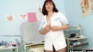 Redhead grandma Zita internal pussy cervix shots thumb
