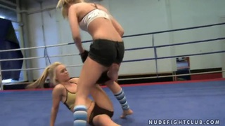 Blue Angel and Sabrinka fighting with each other thumb