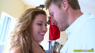 Classy blonde Cherry Jul blows a big hard cock thumb