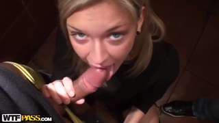 Hot blondie Yuki getting fucked in a public place to earn some money thumb