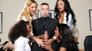 Office 4-Play VII: Ebony Babes thumb