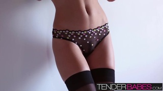 Enjoy this hot solo scene with Amber Sym in sexy lingerie thumb
