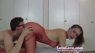 In my whore makeup and slutty outfit for your creampie! thumb