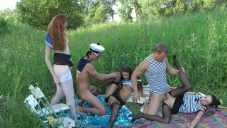 Adeline & Joana & Bianca in_one of the outdoor group sex_video with nasty students thumb