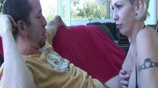 Shameless MILF is fond of sucking and riding big dick thumb