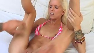 Halle wet pussy got_pounded at the pool and living room thumb